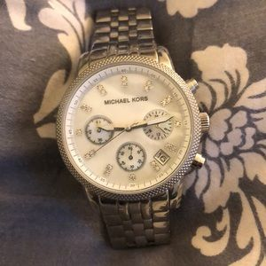 Authentic Michael Kors silver watch